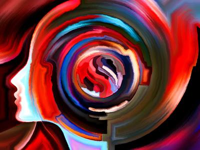 Schizophrenie - Expressionistisches Gemälde